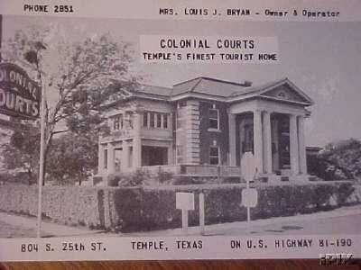 Temple Tx Colonial Courts Hotel About 1944 Jpg